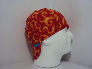 Red With Orange Flames Welders Cap