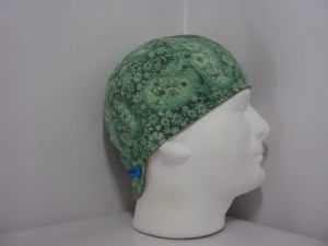 Lime Paisley Welding Cap