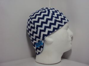 Royal Blue Chevron Welding Cap