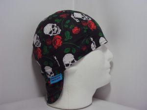 Skulls and Roses Welding Cap