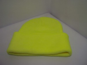 HI Vies Safety Yellow 12 inch Classic Cuff Beanie