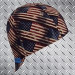 Rustic American Flag Welding Cap
