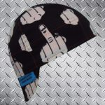 Black And White Middle Finger Welding Cap ©