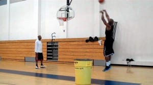 one dribble bank jumper drill dre baldwin pt 1