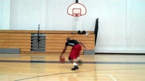 Small Player One-Hand-Under Driving Runner Over Shot Blockers - Dre Baldwin