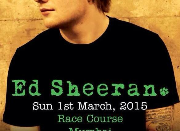 Ed sheeran at Mahalaxmi Race course Mumbai