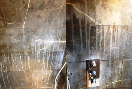 Limescale on Marble Shower Tiles Addlestone