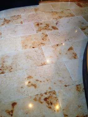 Marble Tiles Indian Restaurant South Croydon After Cleaning