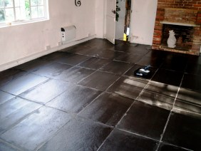 Slate Floor in Beckley Barn After
