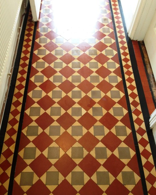 Victorian Tiles in Brighton After Restoration