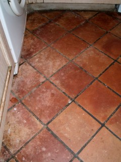 Terracotta Kitchen Floor North Chailey Before Cleaning