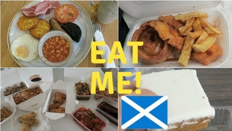 WHAT TO EAT IN SCOTLAND | Scottish Chinese food, fish and chips, cooked breakfast