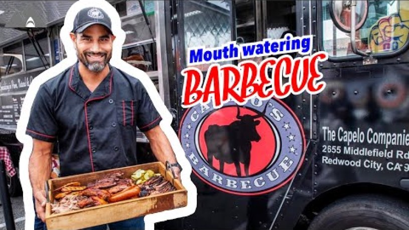 The Barbecue Food Truck ( San Francisco Winter Walk )