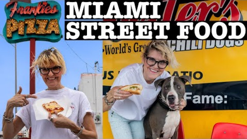 MIAMI STREET FOOD: PIZZA, HOT DOGS & FRIES!
