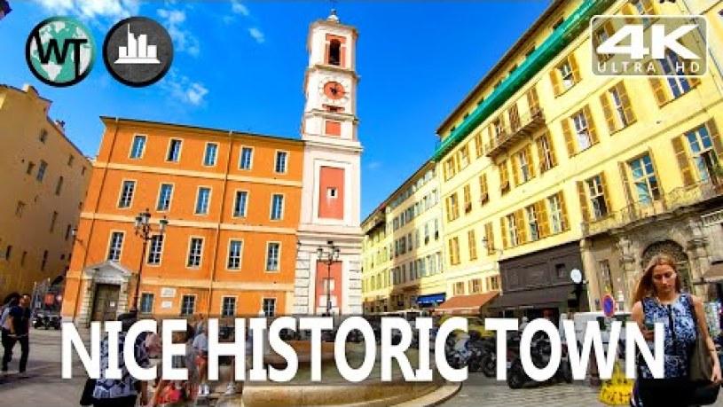 Nice Historic Town, Shops, Bars, Restaurants - 🇫🇷 France - 4K Virtual Tour