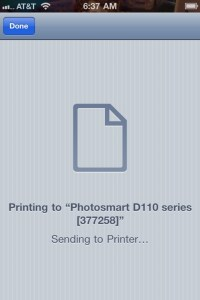Printing from iPhone