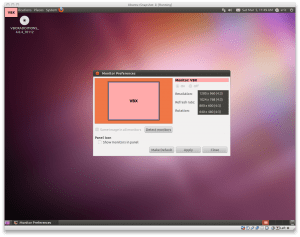 Ubuntu with 1024x768 screen in VirtualBox