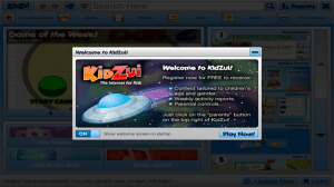 KidZui welcome screen