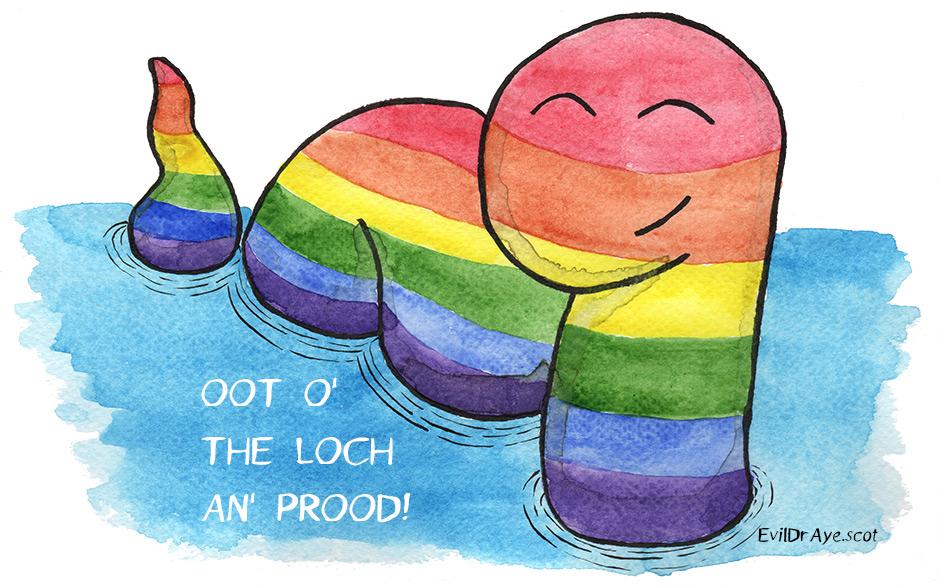 Pride Nessy (watercolour)