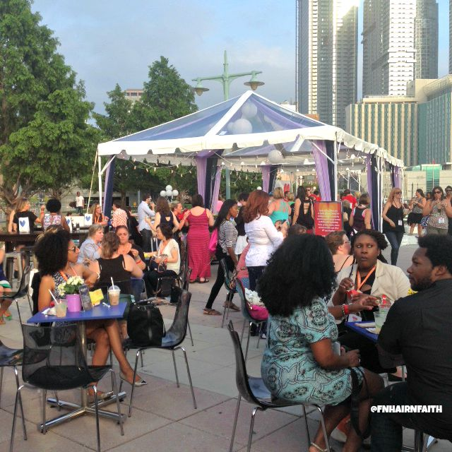 blogher15 party outside