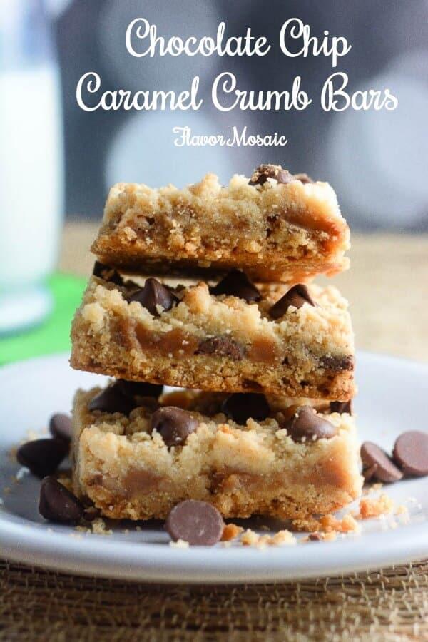 Chocolate Chip Caramel Crumb Bars