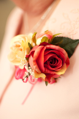 Maid of Honor's Silk Flower Corsage