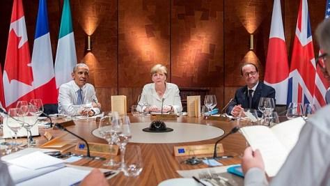 G7 2015 in Elmau: runder Tisch