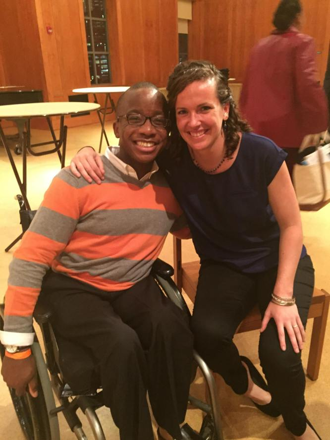 AbleThrive founder Brittany Martin and I