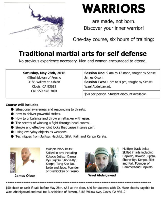 Fresno self-defense seminar