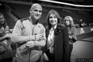 Meeting one of my favorite tennis idols Andre Agassi in Chicago