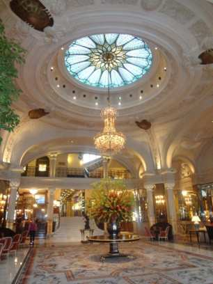 Lobby of Hotel de Paris
