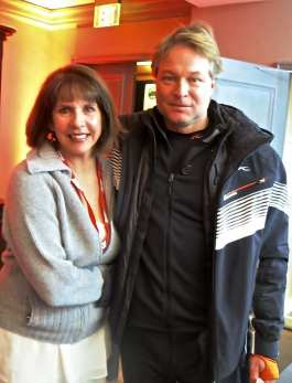 Alexandra Halperin of Aspen Peak, Hans Bergman, Regional Director Kjus USA