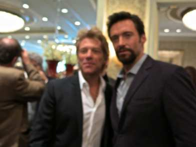 Jon Bon Jovi and Hugh Jackman
