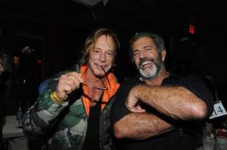 Mickey Rourke and Mel Gibson