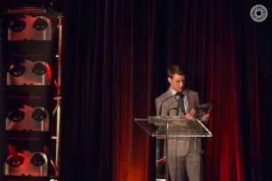 """Chicago Fire"" Actor Jesse Spencer accepts the Artistic Achievement Award at the 50th Chicago International Film Festival Television Awards."
