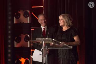 "Co-host Jay Levine looks on as ""CSI"" Executive Director Carol Mendelsohn accepted the Commitment to Excellence Award for Television Production at the 50th Chicago International Film Festival Television Awards."