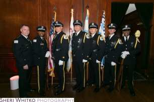 Superintendent Garry McCarthy, with Chicago Police Department Honor Guard