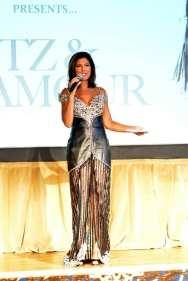 Zoraida Sambolin, NBC5 News Anchor and Emcee, wearing Mark Roscoe Couture