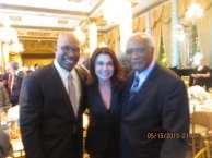 ABC 7 News anchor Hosea Sanders, I On The Scene President Irene Michaels, and U.S. Representative Danny Davis