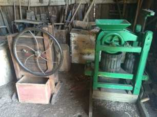Hand operated flywheel and cider press