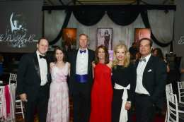 Michael and Phoebe Nitekman, Jim and Susan Draddy (Event Co-chairs), Princess Yasmin Aga Khan, Blaise Labriola