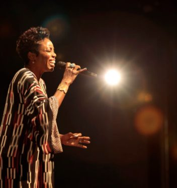 """Tony and Grammy Award-winner Heather Headley treated audiences to selections including """"Home"""" from The Wizand Whitney Houston's """"I Will Always Love You."""" Photo by Michael Litchfield."""