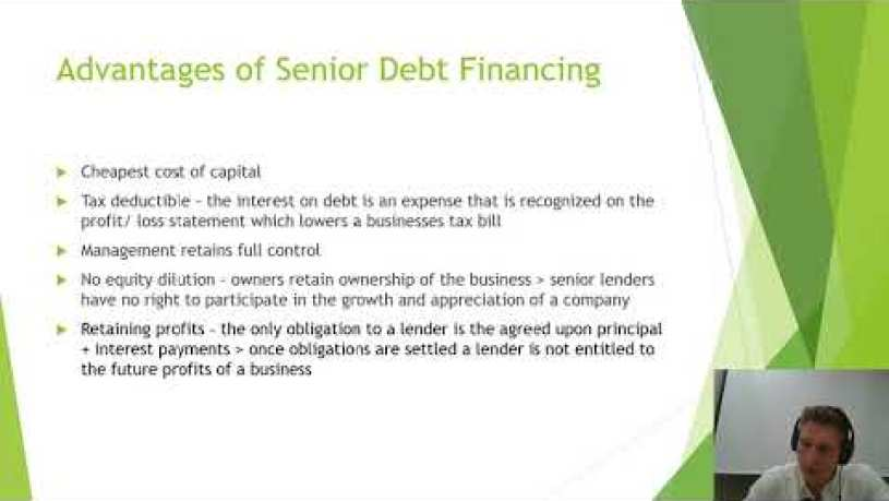 What Is Senior Secured Debt