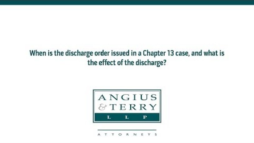 Are Unsecured Debts Discharged in Chapter 13