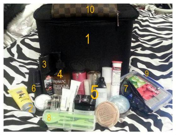 What's in the Flight Attendant's bag