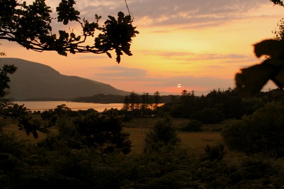 A summer sunset over Killarney National Park