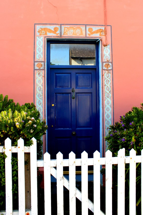 One of the many colorful doors of the charming town on Valentia Island