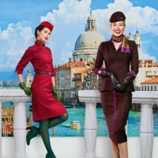 Alitalia and Etihad uniforms both desinged by