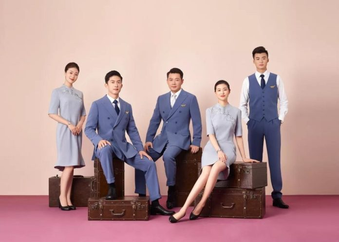Juneyao Air new uniform 2019