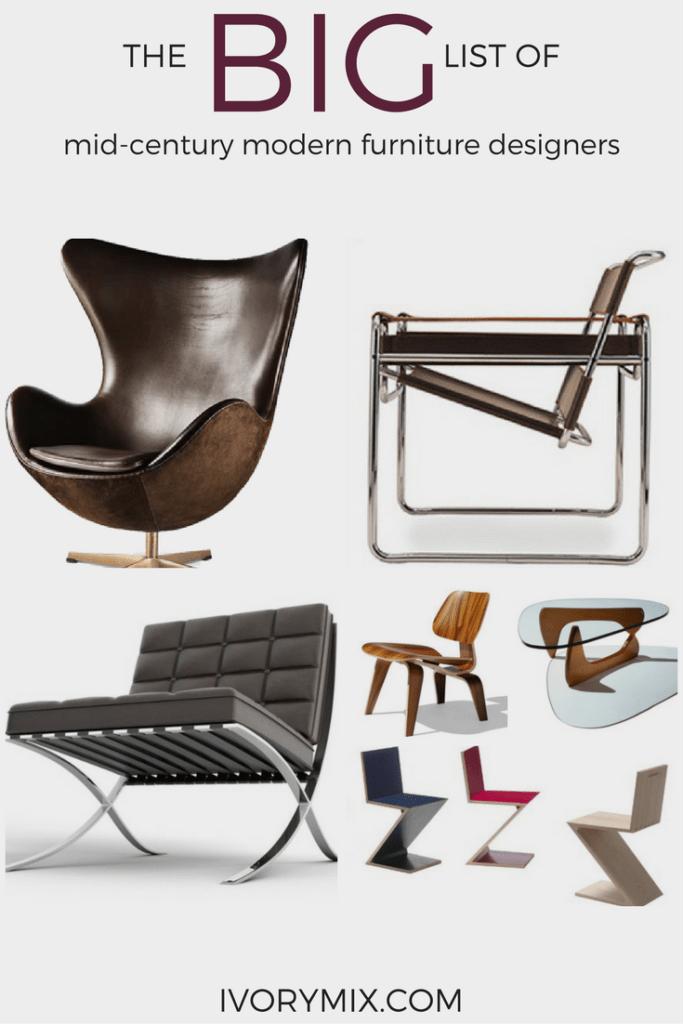 The big list of mid-century modern furniture
